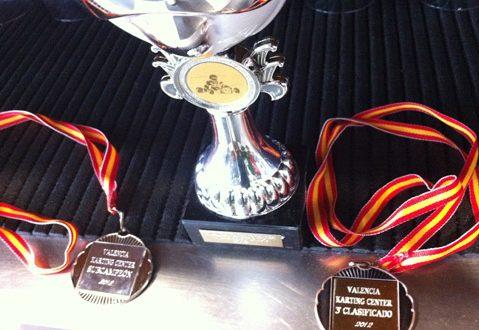 Trofeos para ganadores.